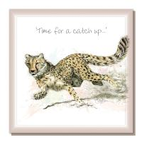 "Greetings card, ""Time for a catch up"""