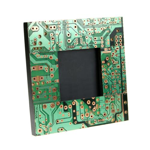 Photo frame, recycled circuit board, 14x14cm