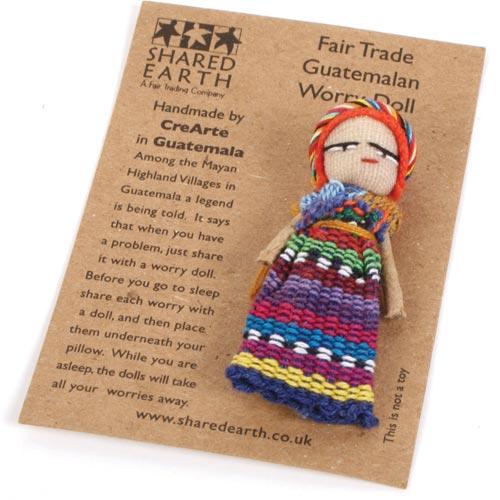 Worry Doll On Card