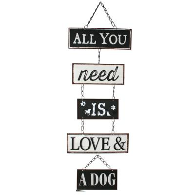 Metal plaque all you need is love and a dog **