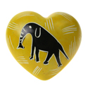 Heart shaped paperweight elephant