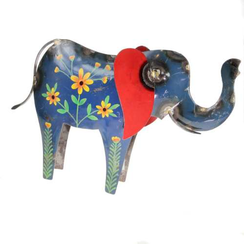 Elephant, recycled oil drum