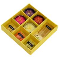 Incense and candle gift set, yellow box