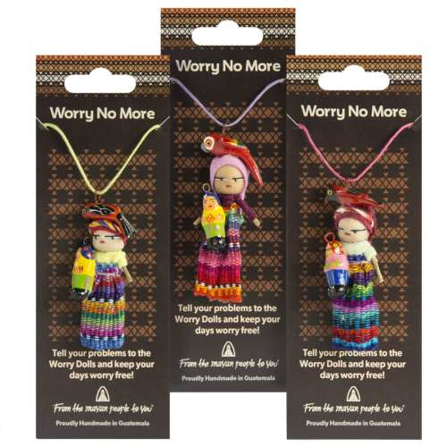 Worry doll necklace, single