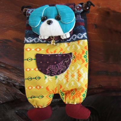 Shoulder purse, fabric, dog assorted colours 13 x 23cm **