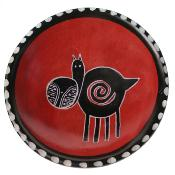 Kisii stone small bowl 10cm, hippo red background