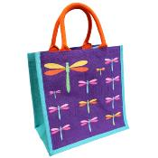 Jute shopping bag,dragonflies