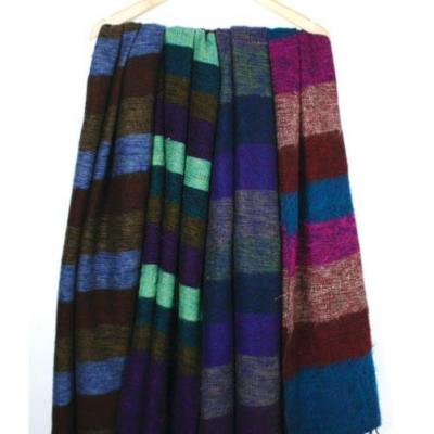 Woollen scarf/shawl/stole stripes, 195x80cm, assorted colours