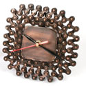 Clock 13x13cm recycled bike chain