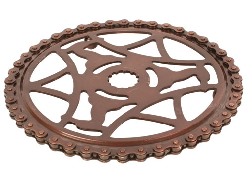 Bike chain cog trivet