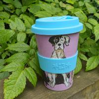 Reusable travel cup, biodegradable, walkies