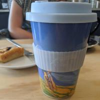 Reusable travel cup, biodegradable, charaka pilgrim