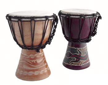 Djembe painted/carved 15cm