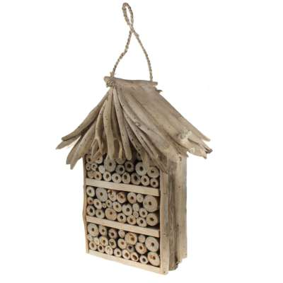 Bee/bug house, driftwood 3-tier, 38cm height