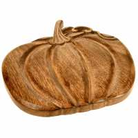 Trivet, mango wood, pumpkin shape