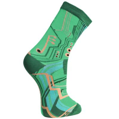 Bamboo socks, circuit board, Shoe size: UK 7-11, Euro 41-47