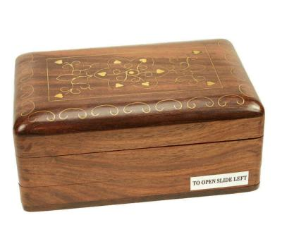 Wooden secret lock box
