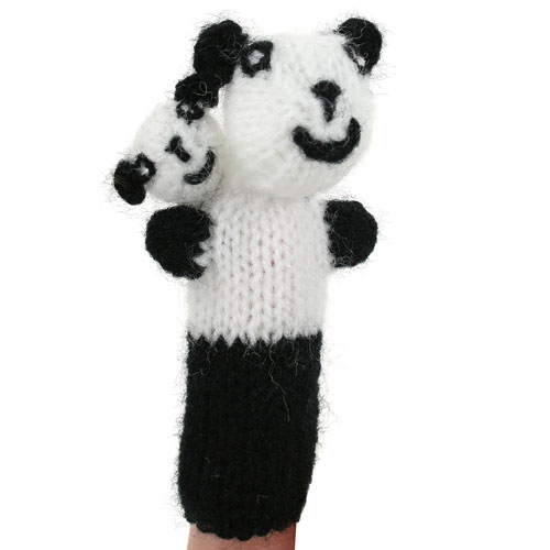 Finger puppet panda mum and baby