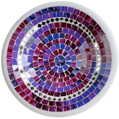 Bowl, mosaic, 30cm purple