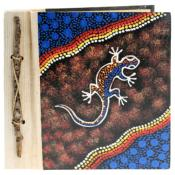Notebook Aboriginal design ghecko, 20x20cm