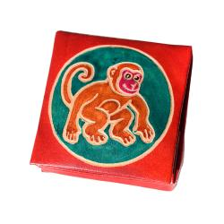 Leather coin purse monkey