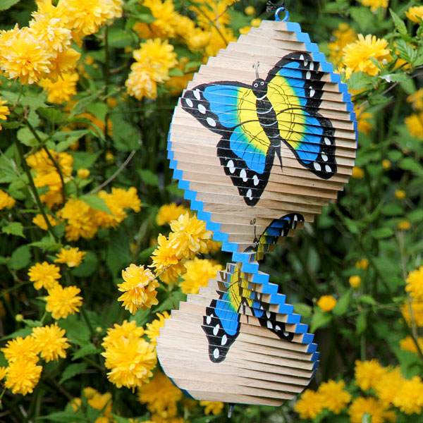 Wind spinner, wood, butterfly 30cm