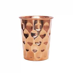 Copper cup, diamond look, 300ml