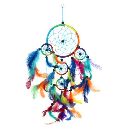Dreamcatcher rainbow 12cm
