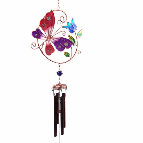 Chime, butterfly and flower 80cm **