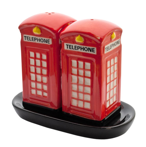 Telephone Box Salt & Pepper Shakers **