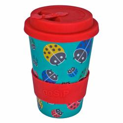 Reusable travel cup, biodegradable, ladybirds