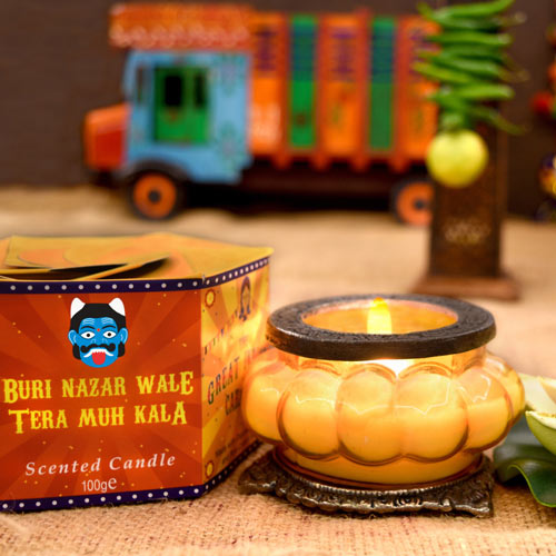 """Great Caravan"" candle in glass, buri nazar **"