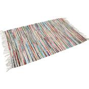Rag rug 120x80cm assorted colours