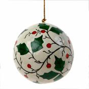 Bauble holly, 6cm diam