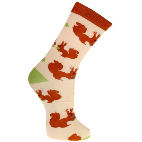 Bamboo socks, squirrels, Shoe size: UK 3-7, Euro 36-41