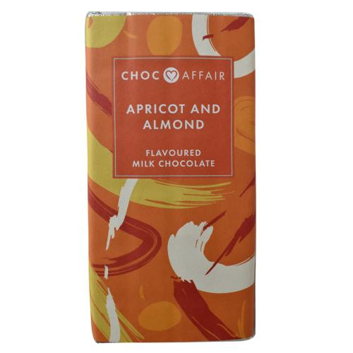 Apricot and almond milk chocolate bar