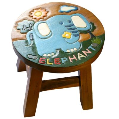 Hand carved child's stool, elephant