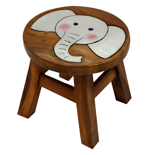 Child's wooden stool - elephant **