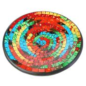 Bowl, mosaic, 28cm multicolour with spots