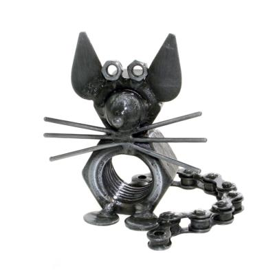 Mouse, recycled bike chain and metal nut