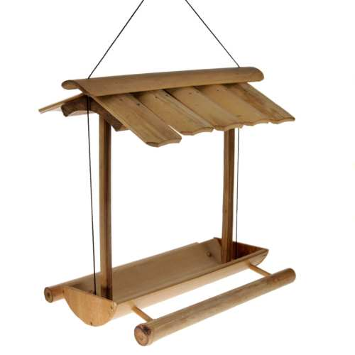 Bird feeder bamboo