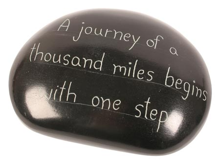 "Paperweight ""A journey of a thousand miles"""