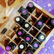 Box for aromatherapy oils, 24 compartments