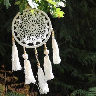 Dreamcatcher crochet with tassles + coins 22cm