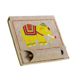 Elephant poo notepad with mini pencil in pouch