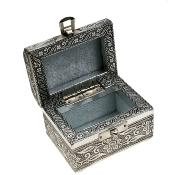 Aluminium jewellery/trinket box trunk, elephant, 9x6x6cm **
