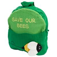 Child's backback green, save our bees