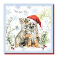 Christmas card, fox