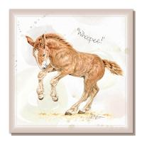 "Greetings card, ""Whoopee"", Suffolk Punch Foal"