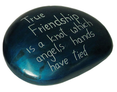 Paperweight turquoise True friendship..